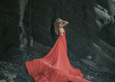 Red Flying Dress Effect
