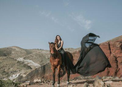 Black Flying Dress Effect